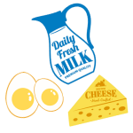 milk egg cheese